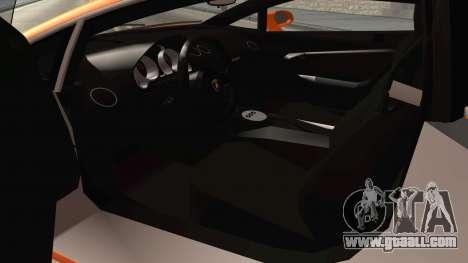 Lamborghini Gallardo Liberty Walk for GTA San Andreas inner view