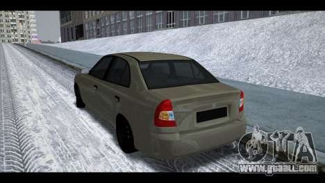 Hyundai Accent Stock for GTA San Andreas right view