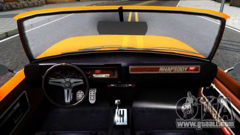 GTA V Declasse Rhapsody Cabrio Style for GTA San Andreas inner view