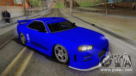 Nissan Skyline Lowpoly for GTA San Andreas back left view