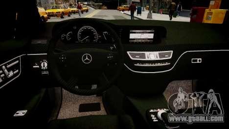 Mercedes Benz Brabus SV12 R 63 Biturbo W221 for GTA 4 inner view
