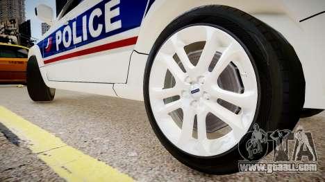 Volvo Police National for GTA 4 back view