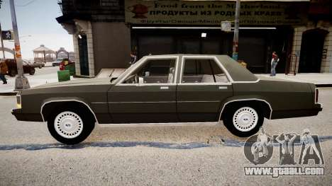 Ford LTD Crown Victoria 1989 for GTA 4 left view