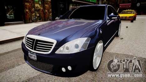 Mercedes Benz Brabus SV12 R 63 Biturbo W221 for GTA 4 right view