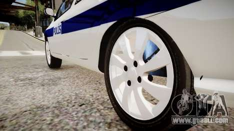 Renault Clio Symbol Police 2011 for GTA 4 back view