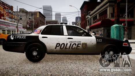 Ford Crown Victoria LCPD Police for GTA 4 left view