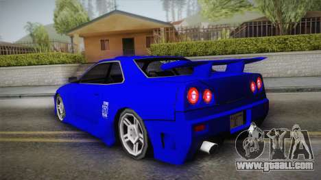 Nissan Skyline Lowpoly for GTA San Andreas inner view