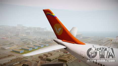 Airbus A340-300 Conviasa for GTA San Andreas back view