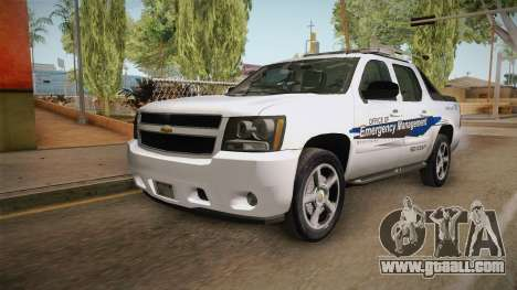 Chevrolet Avalanche 2008 Emergency Management for GTA San Andreas back left view