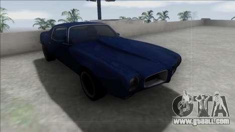 Pontiac Firebird 1970 for GTA San Andreas inner view