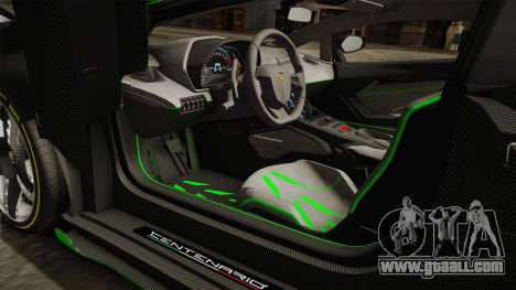 Lamborghini Centenario LP770-4 2017 Carbon Body for GTA San Andreas side view