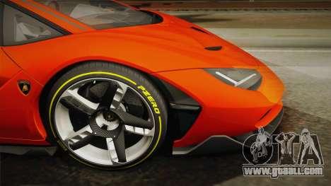 Lamborghini Centenario LP770-4 2017 Painted Body for GTA San Andreas back left view