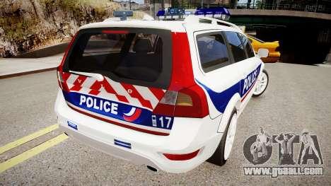 Volvo Police National for GTA 4 back left view