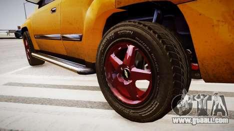 Chevrolet TrailBlazer v2.0 for GTA 4 back view