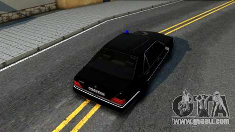 Mercedes-Benz W140 400SE for GTA San Andreas back view