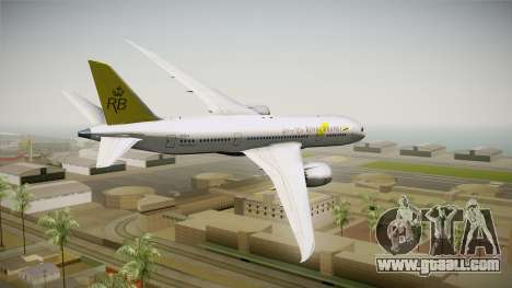 Boeing 787-8 Royal Brunei Airlines for GTA San Andreas left view