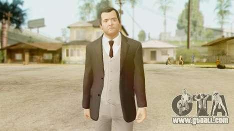 GTA 5 Michael New Suit for GTA San Andreas second screenshot