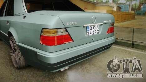 Mercedes-Benz E500 W124 AMG for GTA San Andreas upper view