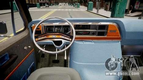 Ford Econoline 150 for GTA 4 inner view
