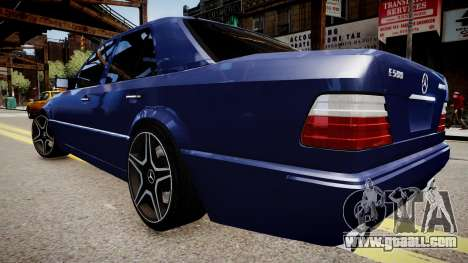 Mercedes-Benz W124 E500 for GTA 4 back left view
