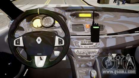 Renault Clio Symbol Police 2011 for GTA 4 inner view