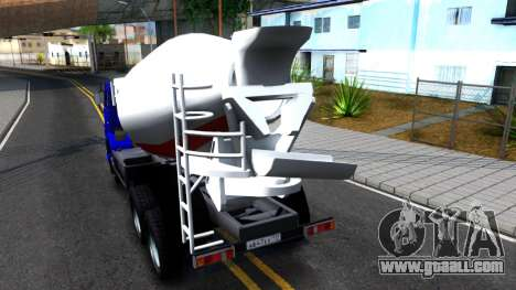 KamAZ 65115 Mixer Truck for GTA San Andreas back left view