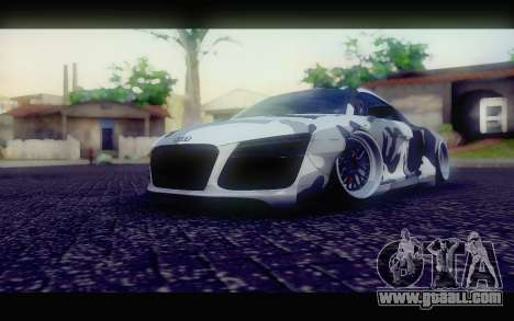 Audi R8 V10 Liberty Walk Performance for GTA San Andreas right view