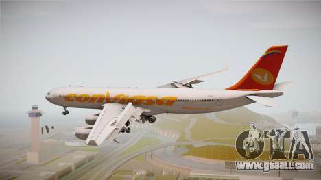 Airbus A340-300 Conviasa for GTA San Andreas left view