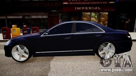 Mercedes Benz Brabus SV12 R 63 Biturbo W221 for GTA 4 left view