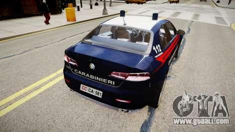 Alfa Romeo 159 Carabinieri for GTA 4 left view