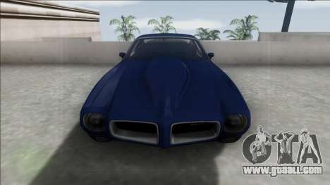 Pontiac Firebird 1970 for GTA San Andreas back view