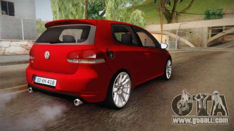 Volkswagen Golf 1.6 for GTA San Andreas right view