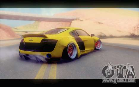 Audi R8 V10 Liberty Walk Performance for GTA San Andreas left view