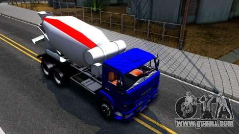 KamAZ 65115 Mixer Truck for GTA San Andreas right view
