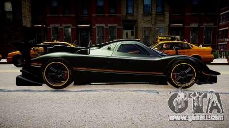 Pagani Zonda R Evolucion Final for GTA 4 right view