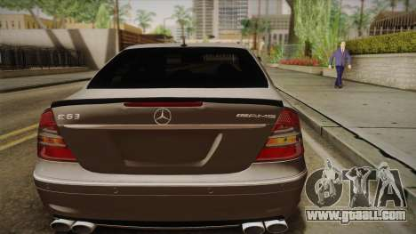 Mercedes-Benz E63 W211 AMG for GTA San Andreas back view