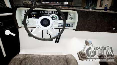 Chevrolet Nova for GTA 4 inner view