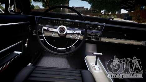 Ford Fairlane 500 for GTA 4 inner view