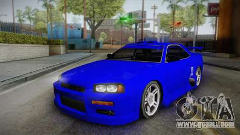 Nissan Skyline Lowpoly for GTA San Andreas back view