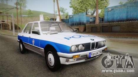 BMW 323i E30 Turkish Police for GTA San Andreas