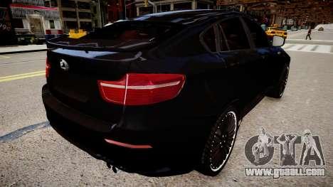 BMW X6 Hamann v2.0 for GTA 4 back left view