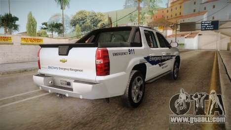 Chevrolet Avalanche 2008 Emergency Management for GTA San Andreas right view