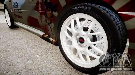 Subaru Impreza 22b STI for GTA 4 back view