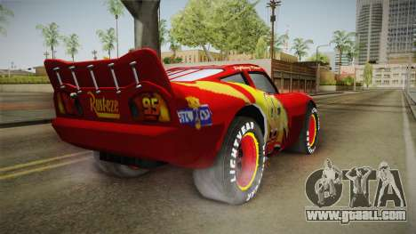 Cars 3 - McQueen for GTA San Andreas back left view
