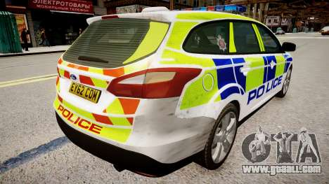 Ford Focus police UK for GTA 4 back left view