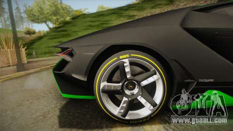 Lamborghini Centenario LP770-4 2017 Carbon Body for GTA San Andreas back left view