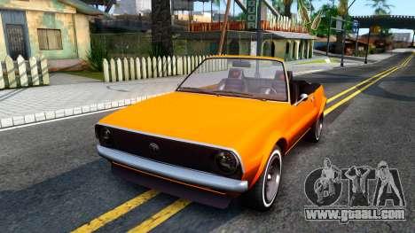GTA V Declasse Rhapsody Cabrio Style for GTA San Andreas