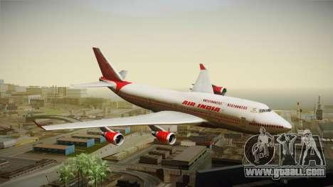 Boeing 747-400 Air India Khajuraho for GTA San Andreas