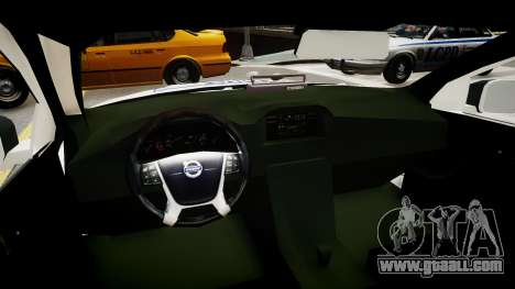 Volvo Police National for GTA 4 inner view