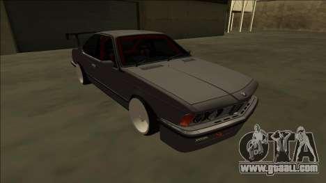 BMW M6 E24 Drift for GTA San Andreas back view